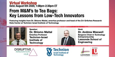 From M&M's to Tea Bags: Key Lessons from Low-Tech Innovators tickets