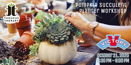 SOLD OUT: In - Person - Pumpkin Succulent Workshop at Victory Brewing Co tickets