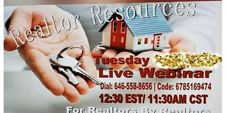 Realtor Resources -Houston Tuesday  Delcine Thomas tickets