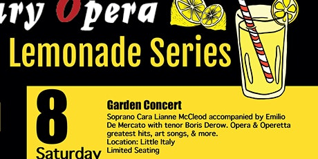 Mercury Opera's  Lemonade Series with  Cara McLeod  and Emilio De Mercato tickets