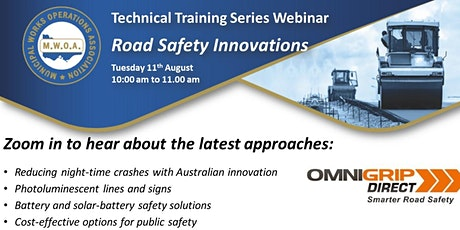 Innovative Approaches to Road Safety FREE Webinar tickets