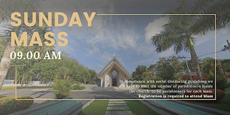 09:00 AM Sunday Mass   9 August 2020 tickets