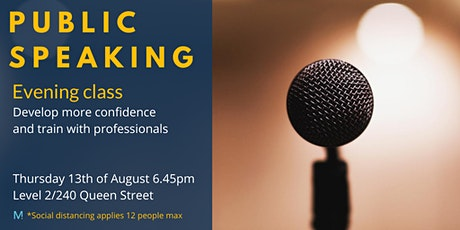 Public Speaking evening class tickets