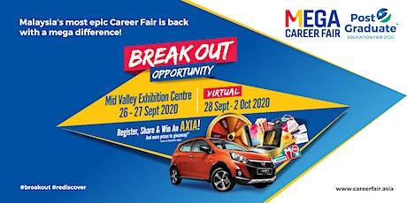 Mega Career Fair & Post Graduate Education Fair 2020 - Mid Valley KL tickets