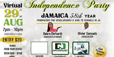 Jamaica Organization of New Jersey  All White Virtual  Independence Party tickets