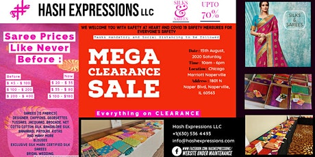 Silks n Sarees MEGA CLEARANCE SALE by Hash Expressions LLC tickets