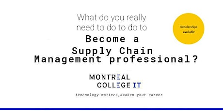 Be a Supply Chain Management professional boletos