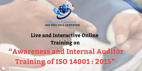 AWARENESS & OVERVIEW OF INTERNAL AUDITOR TRAINING OF ISO 14001 : 2015 tickets