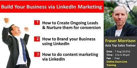 Build Your Business via LinkedIn Marketing tickets