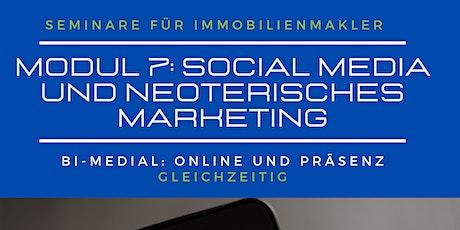 Modul 7: Social Media für Immobilienmakler   #berufsbegleitend tickets