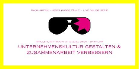UNTERNEHMENSKULTUR GESTALTEN & ZUSAMMENARBEIT VERBESSERN Tickets