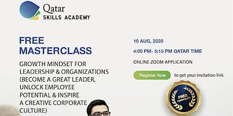 (Free Webinar) Growth Mindset for Leadership & Organizations -Great Leader tickets