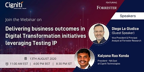 Webinar -Delivering Business outcomes in Digital Transformation initiatives tickets