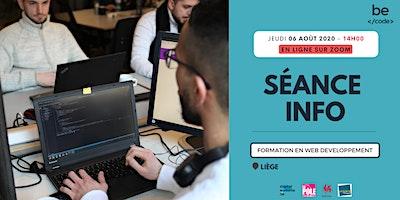 BeCode Liège – Séance infos – 06/08/2020, 14H00 – En ligne sur Zoom