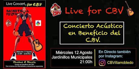 Live Concert for CBVillarrobledo  -  Basket & Music entradas
