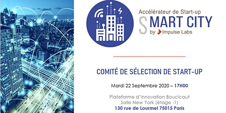 Comité de sélection de start-up Smart city - 22/09 tickets