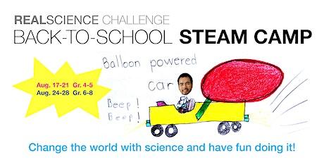 Back-to-School STEAM Camp  (Gr. 6-8): Design. Make. Change the World. tickets