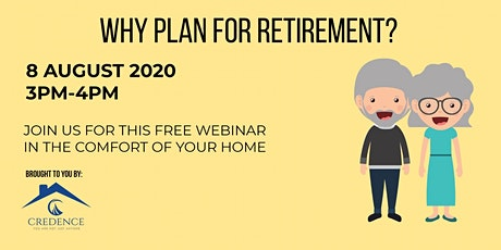 Why Plan For Retirement tickets