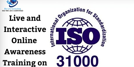 AWARENESS & OVERVIEW OF ISO 31000:2018 tickets