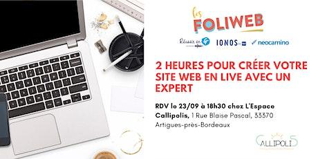 [Bordeaux] 2 heures pour créer votre site web en live avec un expert billets
