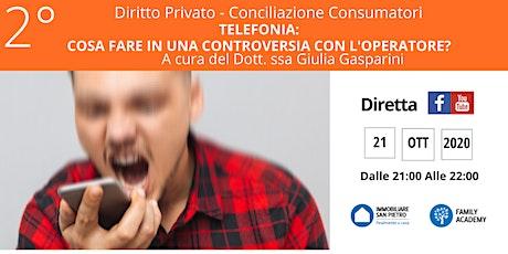 DIRITTO PRIVATO - TELEFONIA: COSA FARE IN UNA CONTROVERSIA CON L'OPERATORE? biglietti