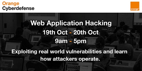 Orange Cyberdefense Trainings - Web Application Hacking tickets