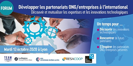 Développer les partenariats ONG-Entreprises à l'international tickets