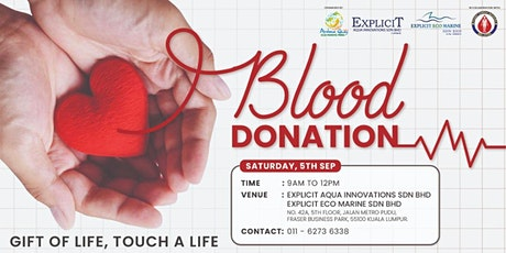 Gift of Life, Touch a Life - Blood Donation Campaign tickets