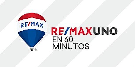 """""""RE/MAX Uno en 60 minutos"""" miércoles 12 de agosto de 2020, 18.00 hs. entradas"""