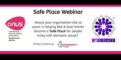 Onus Safe Place Webinar - Mid & East Antrim Borough Council tickets