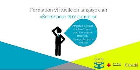 Formation virtuelle en langage clair billets