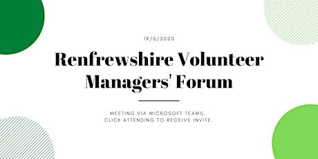 Renfrewshire's Volunteer Managers Forum - August Edition tickets