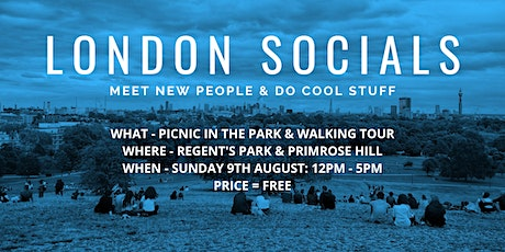 London Socials - Picnic in the Park & Walking Tour tickets