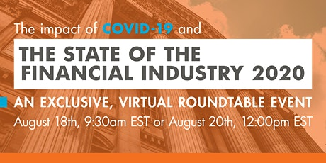 The State of the Financial Industry 2020 tickets