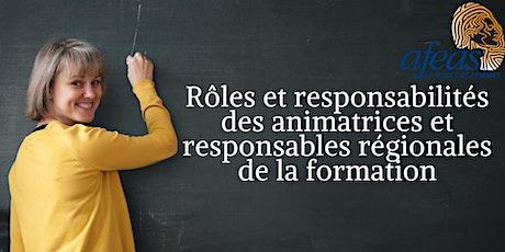 Rôles et responsabilités des animatrices et responsables de la formation billets