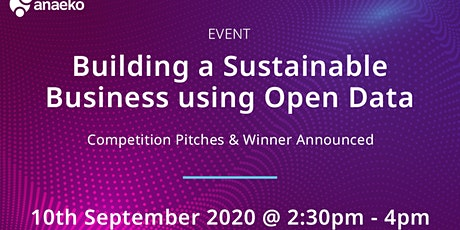 Building a Sustainable Business using Open Data Mini-pitch Competition tickets