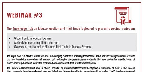 KH Webinar#3: Protocol to Eliminate Illicit Trade in Tobacco Products tickets