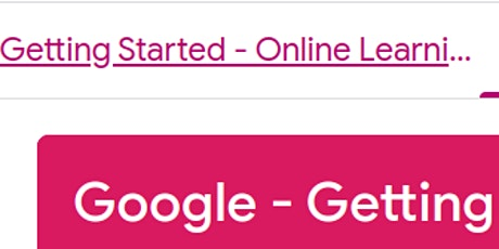 Google - Getting Started