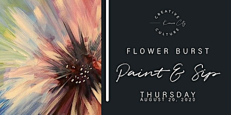 Paint and Sip  | Flower Burst tickets