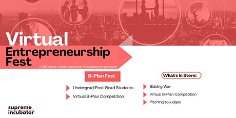 Virtual Entrepreneurship Fest: B-Plan Competition tickets