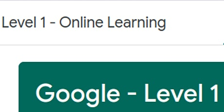 Google - Level 1 Educator - Online Learning