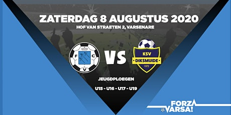 KFC Varsenare - KSV Diksmuide - Oefenwedstrijden Jeugd - NAMIDDAG tickets