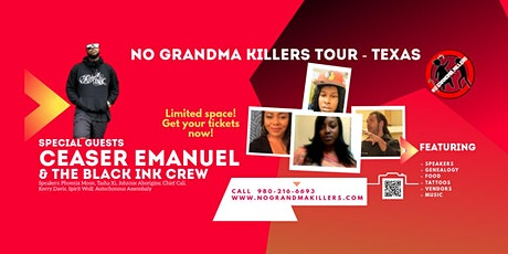 WEBINAR No Grandma Killers Tour - Texas- Sept 5-6 tickets