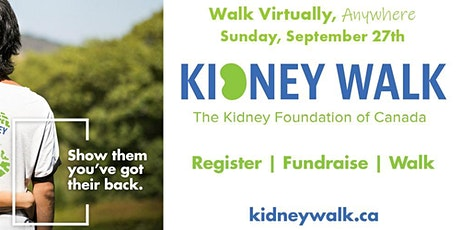 2020 Kidney Walk - Walk Virtually Anywhere – Anyhow! tickets