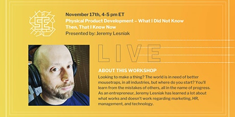 LIVE:  Physical Product Development tickets