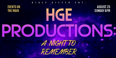 HGE Productions: A Night to Remember tickets