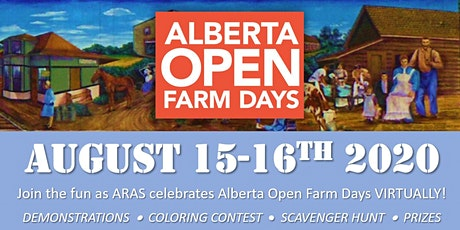 ARAS Alberta Open Farm Days (virtual celebration) tickets