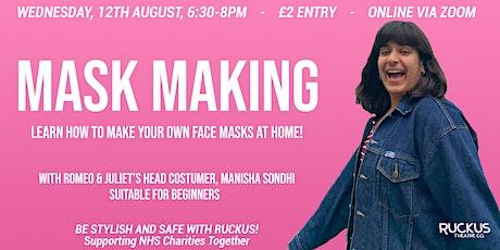 Mask Making Class with Manisha Sondhi tickets
