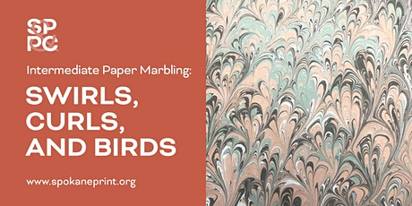 Intermediate Paper Marbling: Swirls, Curls, and Birds tickets