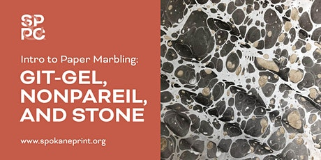 Intro to Paper Marbling: Git-Gel, Nonpareil, and Stone tickets